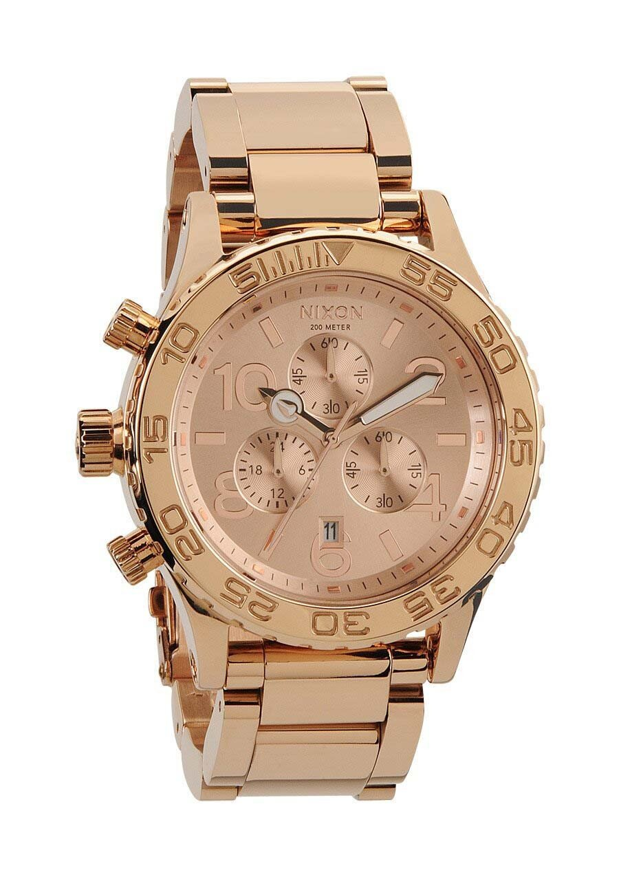Zegarek damski All Rose Gold Nixon 42-20 Chrono A0371897