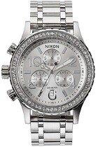 Zegarek damski All Silver Crystal Nixon 38-20 Chrono A4041874