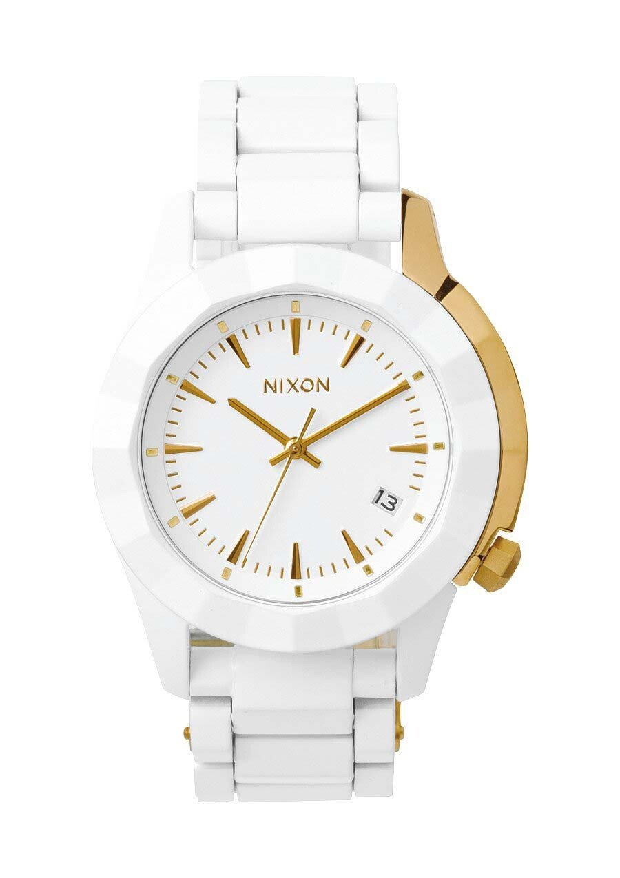 Zegarek damski All White Gold Nixon Monarch A2881035