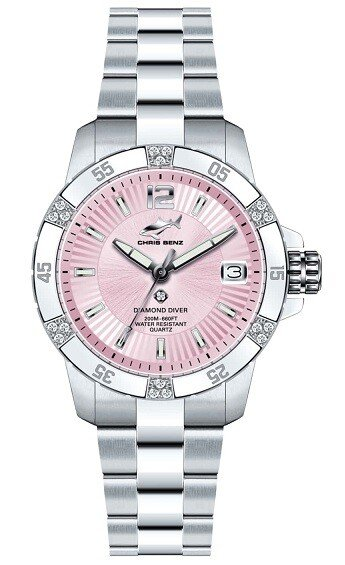 Zegarek damski Chris Benz Diamond Diver CB-DD200-R-MBO