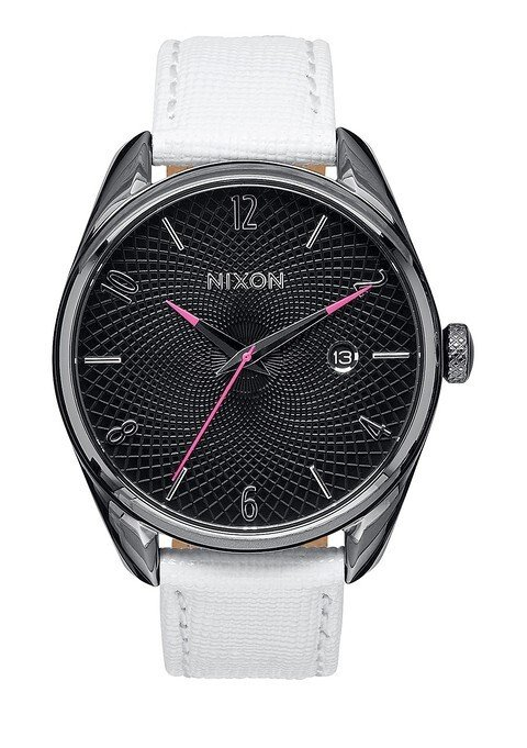 Zegarek damski Gunmetal White Nixon Bullet Leather A4731486