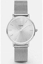 Zegarek damski Mesh Full Silver Cluse Minuit CW0101203011