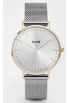 Zegarek damski Mesh Gold Silver Cluse La Boheme CW0101201016