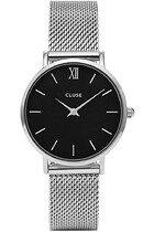 Zegarek damski Mesh Silver Black Cluse Minuit CW0101203005