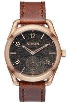 Zegarek damski Rose Gold Brown Nixon C39 Leather A4591890