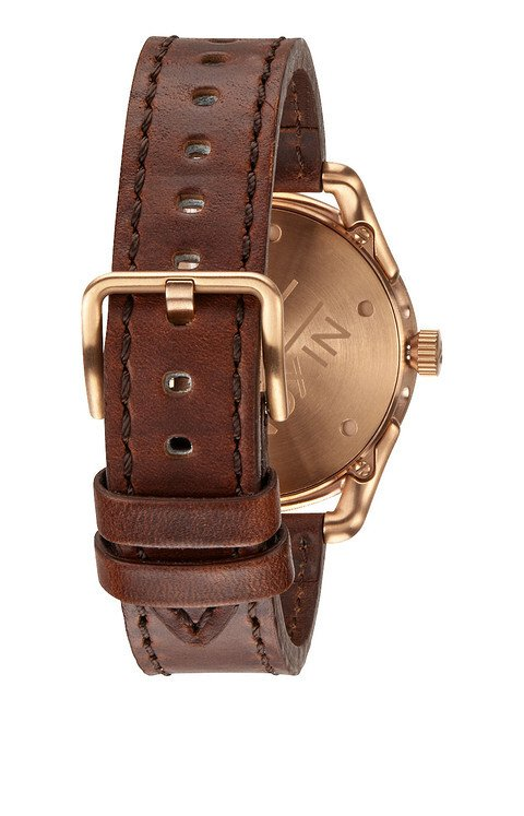Zegarek damski Rose Gold Brown Nixon C39 Leather A4591890