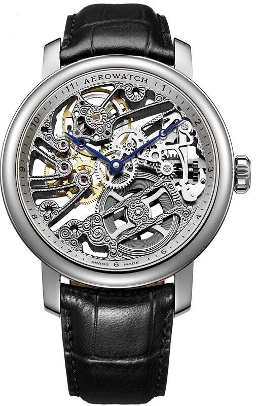 Zegarek męski Aerowatch Renaissance Big Mechanical Skeleton 50931.AA01