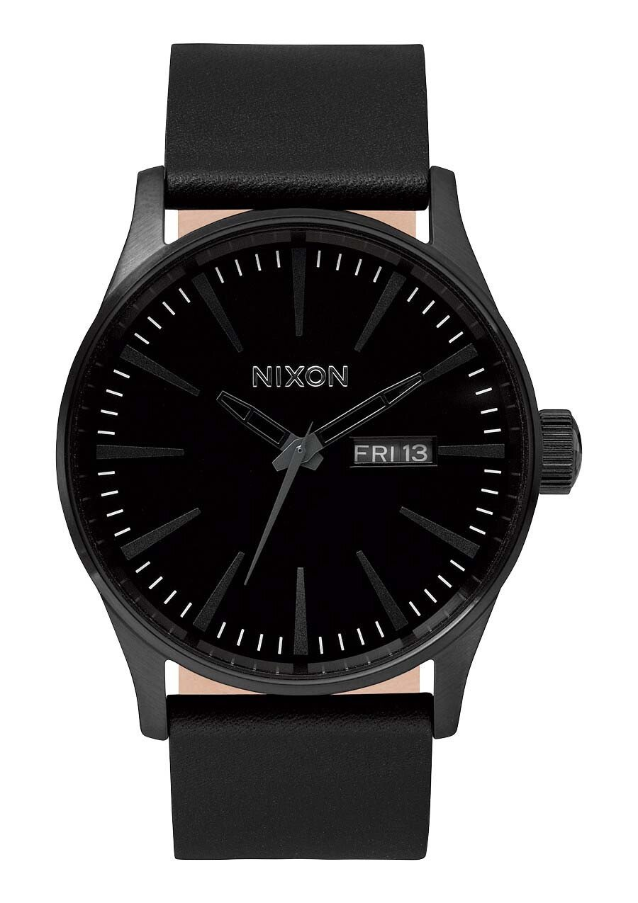 Zegarek męski All Black Nixon Sentry Leather A1051001