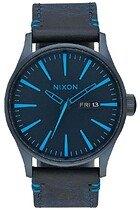 Zegarek męski All Dark Blue Nixon Sentry Leather A1052224