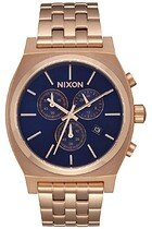 Zegarek męski All Rose Gold Navy Sunray Nixon Time Teller Chrono A9722398