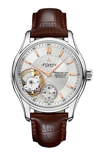 Zegarek męski Atlantic Worldmaster Open Heart Mechanical 52951-41-21R