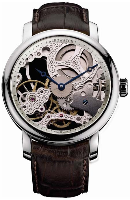 Zegarek męski Big Mechanical Skeleton Aerowatch Renaissance 57931.AA01