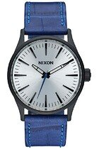 Zegarek męski Black Blue Gator Nixon Sentry 38 Leather A3772131