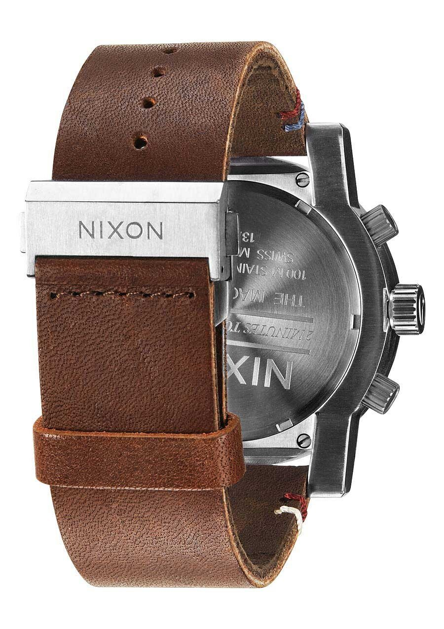 Zegarek męski Black Brown Nixon Mangacon Leather A2671019