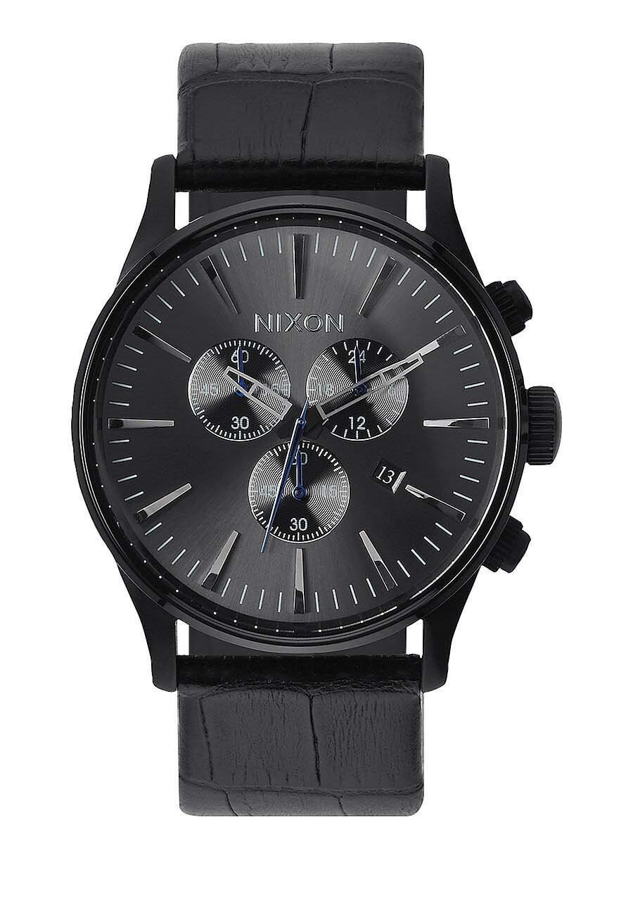 Zegarek męski Black Gator Nixon Sentry Chrono Leather A4051886