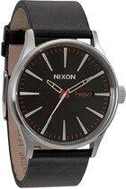 Zegarek męski Black Nixon Sentry Leather A1051000