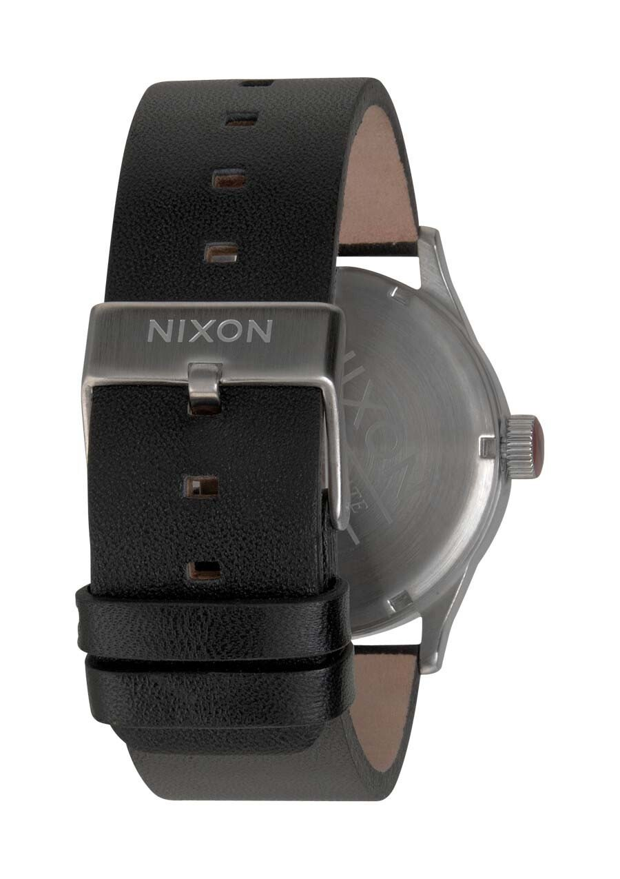 Zegarek męski Black Nixon Sentry Leather A1051000