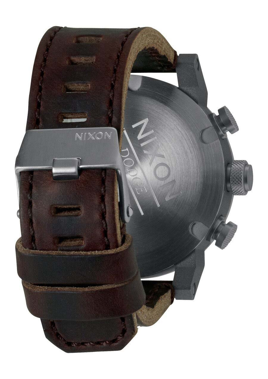 Zegarek męski Brown Black Nixon Ride A3151562