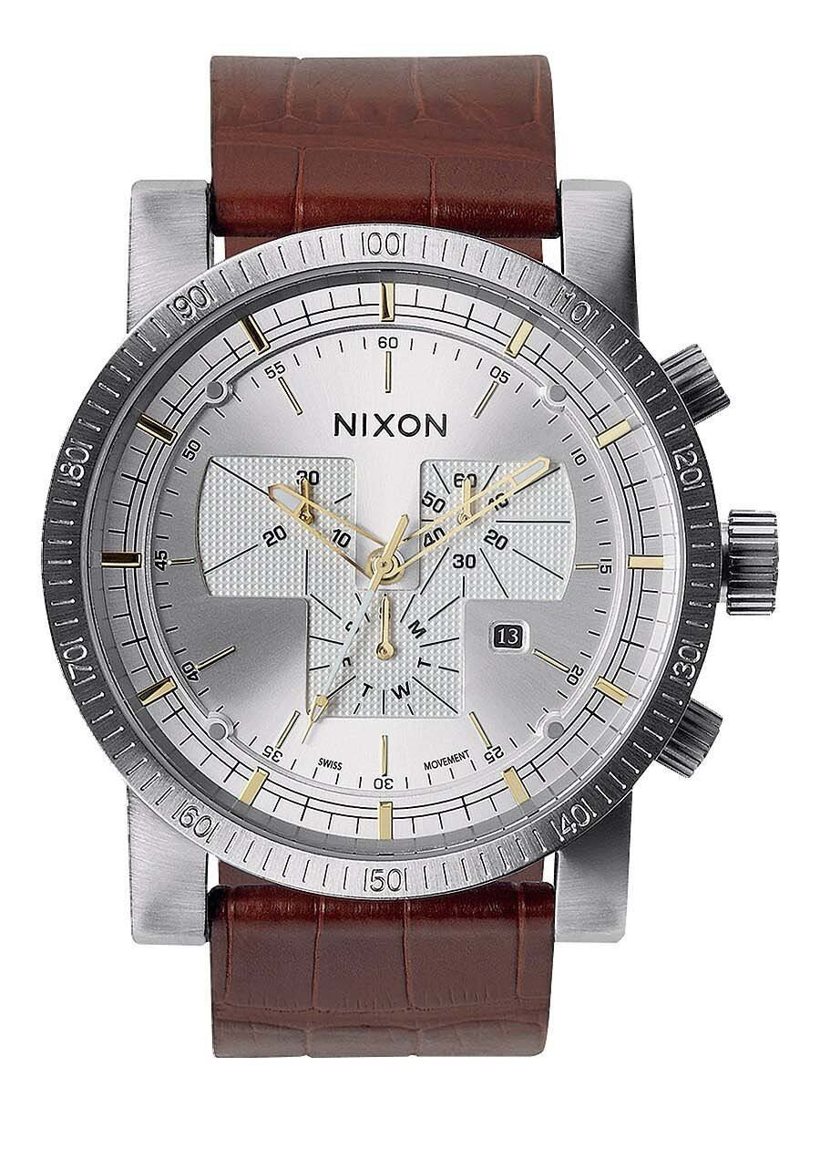 Zegarek męski Brown Gator Nixon Magnacon Leather II A4581887