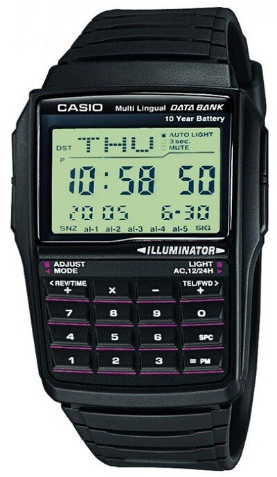 Zegarek męski Casio Data Bank DBC-32-1AEF