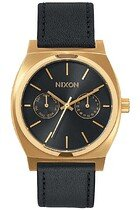 Zegarek męski Gold Black Sunray Nixon Time Teller Deluxe Leather A9271604