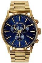 Zegarek męski Gold Blue Sunray Nixon Sentry Chrono A3861922