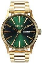 Zegarek męski Gold Green Sunray Nixon Sentry SS A3561919