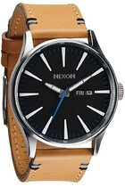 Zegarek męski Natural Black Nixon Sentry Leather A1051602