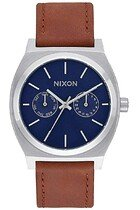 Zegarek męski Navy Sunray Brown Nixon Time Teller Deluxe Leather A9272307