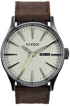 Zegarek męski Nixon Sentry Leather A0151388