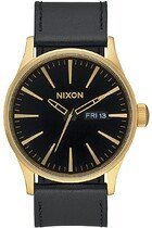 Zegarek męski  Nixon Sentry Leather Gold Black A1051513