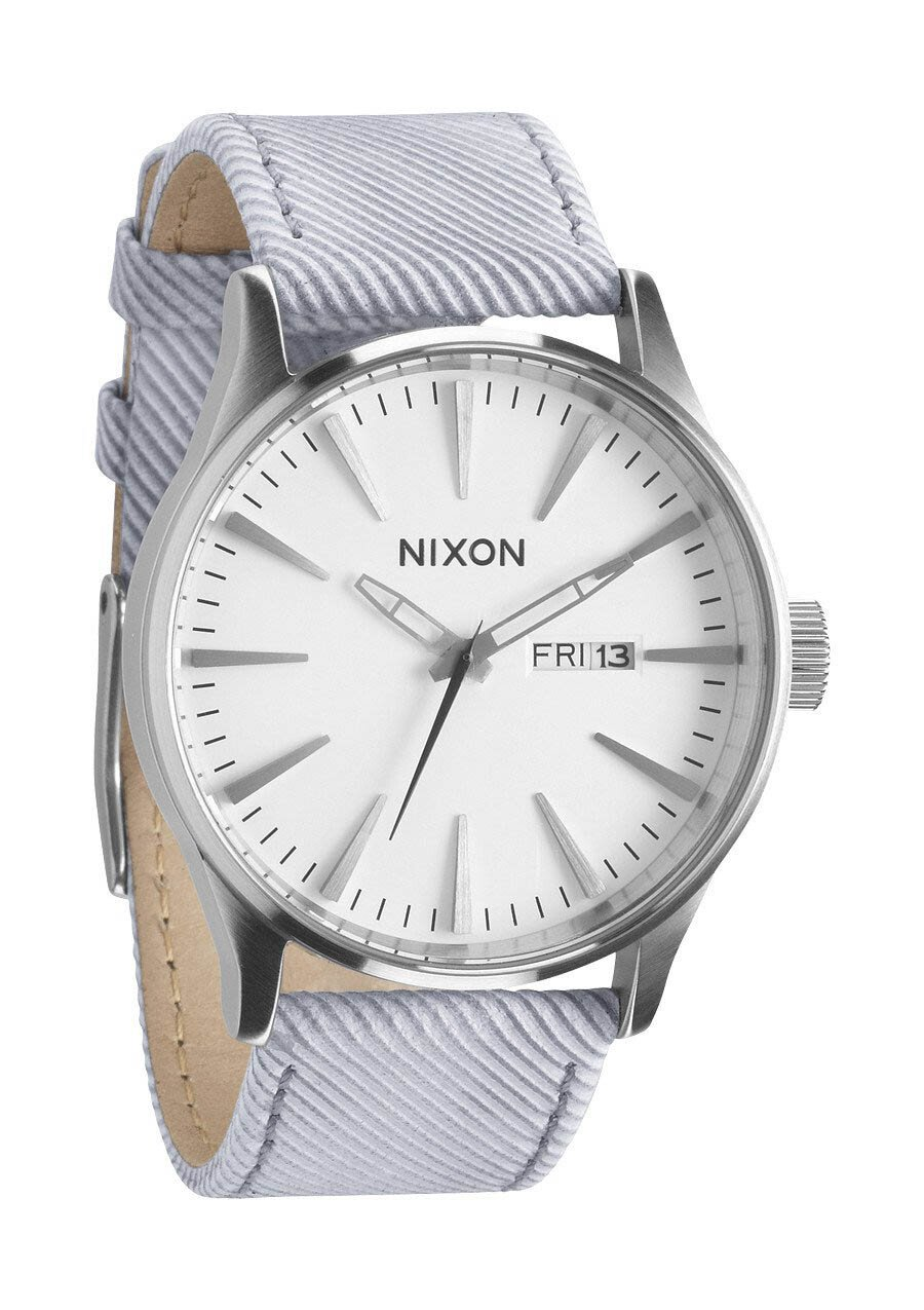 Zegarek męski Pinstripe Nixon Sentry Leather A1051850