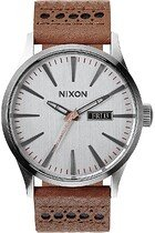 Zegarek męski Saddle Silver Nixon Sentry Leather A1051752