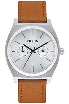 Zegarek męski Silver Sunray Saddle Nixon Time Teller Deluxe Leather A9272310