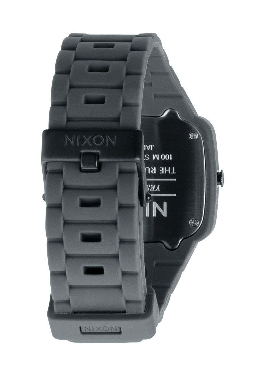 Zegarek unisex Grey Black Nixon Rubber Player A1391195