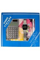 Zestaw z kalkulatorem Casio Vintage 19 CV GIFT SET SI